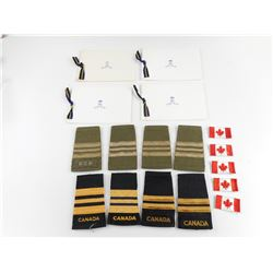 ASSORTED CANADIAN MILITARY RANK EPAULETTES
