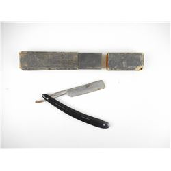 ANTIQUE LANDERS FRARY SHAVING BLADE, WITH BOX