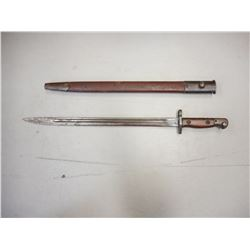 WWI BRITISH P1907 LEE ENFIELD BAYONET AND SCABBARD