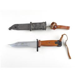 POLISH AKII BAYONET AND SCABBARD