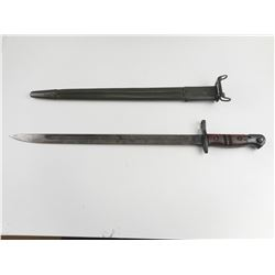 US ENFIELD P1917 SWORD BAYONET AND SCABBARD
