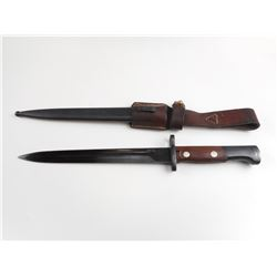 YUGOSLAVIAN KNIFE BAYONET FOR THE M1948 MAUSER WITH MATCHING SCABBARD