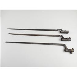 MILITARY SOCKET BAYONET'S. NO SCABBARDS