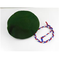 MILITARY TYPE BERET AND SPECIAL SERVICE FORCE LANYARD