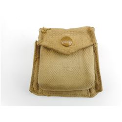 BRITISH WWII OFFICERS MKIII COMPASS AND WEBBING POUCH