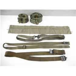 ASSORTED US MILITARY SLINGS AND BELTS