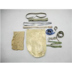 MILITARY TYPE RUCK SACK AND ASSORTED SLINGS/BELTS