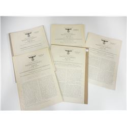WWII GERMAN PATENTS FROM 1936-1942