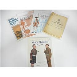 ASSORTED FRENCH AND BRITISH MILITARY BOOKS