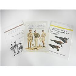 ASSORTED MILITARY TYPE RIFLES AND HANDGUN BOOKS