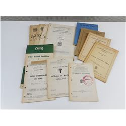 ASSORTED WWII CANADIAN ARMY BOOKLETS