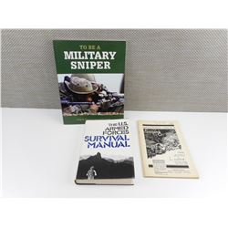 ASSORTED MILITARY SNIPER BOOKS