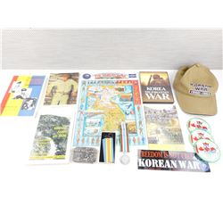 ASSORTED KOREAN WAR BOOKS AND ITEMS