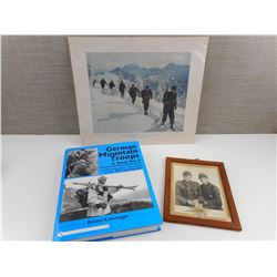 WWII GERMAN MOUNTAIN TROOPS BOOK AND PHOTO'S