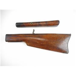 UNKNOWN WALNUT SINGLE SHOT BUTT STOCK AND FOREND