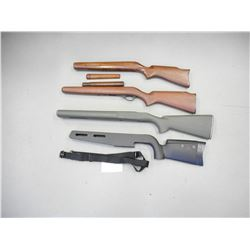 ASSORTED SQUIRES BINGHAM STOCKS AND WOODEN STOCKS