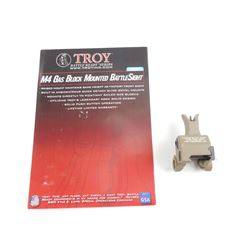 TROY INDUSTRIES FDE FRONT FOLDING GAS BLOCK MOUNTED BATTLE SIGHT