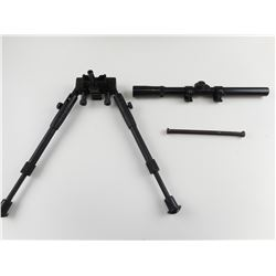 TASCO SCOPE AND UNKNOWN BIPOD