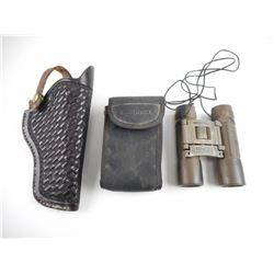BUSHNELL BINOCULARS AND LEATHER HOLSTER