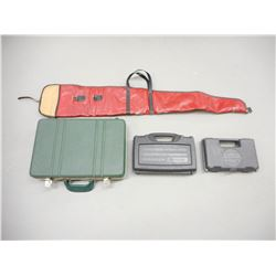 ASSORTED HAND GUN AND RIFLE CASES