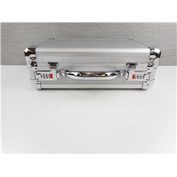 SILVER PISTOL CASE WITH COMBINATION LOCK