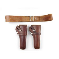 ASSORTED HUNTER 1100 K 40 HOLSTERS AND BELT
