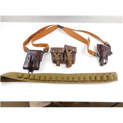 ASSORTED HOLSTERS, AND AMMO POUCHES