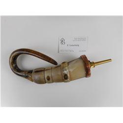 HAND CRAFTED ANIMAL ANTLER POWDER HORN