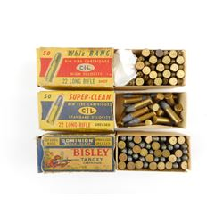 VINTAGE 22LR AMMO IN BOXES