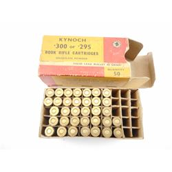 KYNOCH .300 OR .295 ROOK RIFLE AMMO