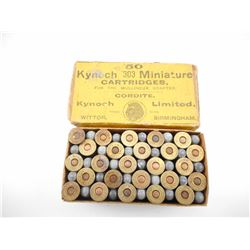 KYNOCH .303 MINIATURE CARTRIDGES FOR THE MULLINEUZ ADAPTER AMMO