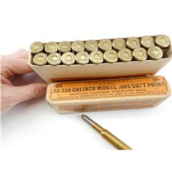 WINCHESTER .30-220 CAL (.30 ARMY)MODEL 1895 AMMO
