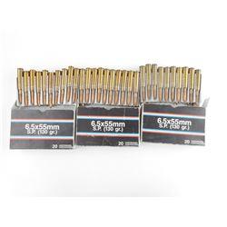 6.5 X 55MM SP AMMO