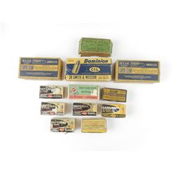 22 SHORT COLLECTIBLE AMMO, COLLECTIBLE BOXES