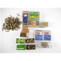 22 LONG RIFLE, 22 LR SHOTSHELL, ASSORTED AMMO
