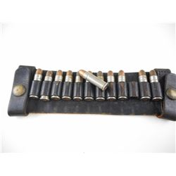 38 SPECIAL (WESTERN) AMMO ON VINTAGE SHELL BELT