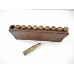 300 SAVAGE (DOMINION) AMMO ON VINTAGE SUPREME BELT SHELL PACK