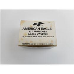 AMERICAN EAGLE 6.5 X55 SWEDISH AMMO