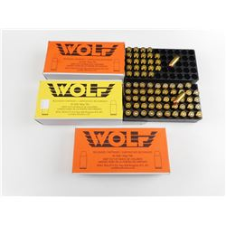 WOLF 40 S&W FACTORY RELOADED AMMO