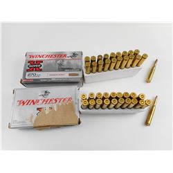 WINCHESTER 270 WIN ASSORTED AMMO, BRASS CASES