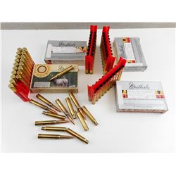 340 WEATHERBY RELOADED AMMO, BRASS CASES