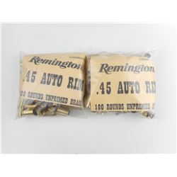 REMINGTON .45 AUTO RIM UNPRIMED BRASS CASES