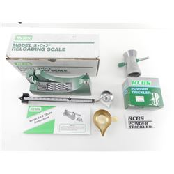 RCBS MODEL 5-0-2 RELOADING SCALE, RCBS POWDER TRICKLER