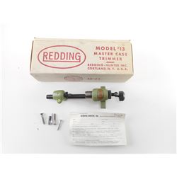 REDDING MODEL 13 MASTER CASE TRIMMER, PILOTS