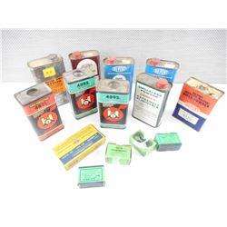 CIL .30 REM EMPTY BOXE, SIERRA 22 CAL BULLETS EMPTY BOXES, VINTAGE EMPTY POWDER TINS