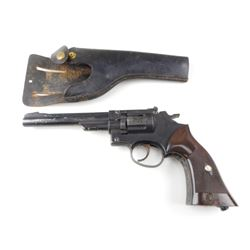 CROSMAN MODEL 38T AIR PISTOL WITH LEATHER HOLSTER