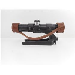RUSSIAN PU SUT 40 SNIPER SCOPE WITH LEATHER CAPS AND MOUNT
