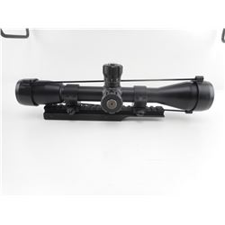 BUSHNELL 10X40 TACTICAL SCOPE WITH MOUNT AND BIKINI LENS CAPS