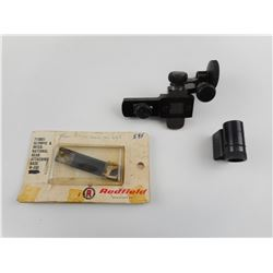 REDFIELD OLYMPIC REAR PEEP SIGHT AND BASE WITH FRONT SIGHT