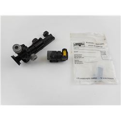 ANSHUTZ REAR TARGET SIGHT WITH FILTER AND FRONT SIGHT WITH LEVEL BASE
